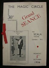 1936 Grand Séance of the Magic Circle Programme