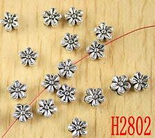 200pcs Tibetan silver plum flower spacer beads h2802