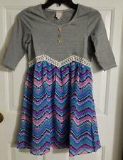 New Girl's Sara Sara Neon Black & White Striped Geometric Dress M