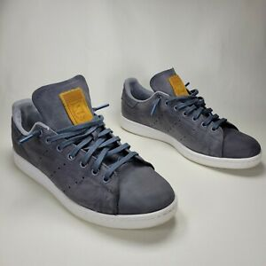 Adidas Stan Smith Onyx Suede Shoes Men's Size 10 Gray Skate Casual Low BB1177