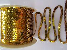 20 Meter GOLD Paillettenband SPITZE Borte 5mm breit P006 PREISHIT ab 0,19€/m