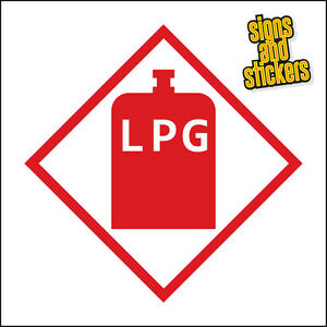LPG WARNING STICKER, PACK OF 2 STICKERS, 100x100mm CARAVAN MOTORHOME top quality