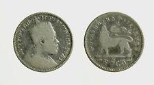 s591_11) MENELIK 1 GERSH  Etiopia - Ethiopia  Silver