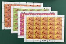 Hong Kong 2014 Year of the Horse. Complete Set Full Sheets of 25. Sc#1612-15 MNH