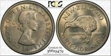 1965 New Zealand One Florin Bu Pcgs Ms66 Toned Coin Only Five Graded Higher #Dd