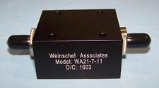 Weinschel Fixed Attenuator 25W WA21-7-11 4.0 GHz SMA (F-F) WA21 25 Watt