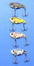 4 x 35mm METAL VIBE FISHING LURES SWITCHBLADE VIB BREAM BASS TROUT