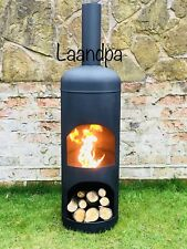 Extra Large Gas Bottle Log Wood Burner With Log Store