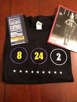 2/8/20 Warriors vs Lakers TICKET + KOBE XL BLACK SHIRT + TIME MAG Authentic HOF