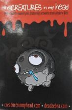 WORRIBLE ENAMEL LAPEL PIN CREATURES IN MY HEAD/DEAD ZEBRA ANDREW BELL