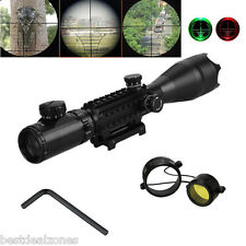4-16X50 Optics Tactical Sniper Air Rifle Hunting Scope Sight with 22mm Mount UK