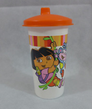 Tupperware Dora the Explorer Tumbler w/ Domed (dome) Sippy~sipper~Lid Orange New
