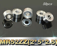 50PCS MR52 ZZ 2x5x2.5mm Miniature Model Bearing MR52ZZ Ball Bearings 2*5*2.5mm