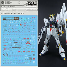 D.L high quality Decal water paste For Bandai MG 1/100 RX-93V KA.NU Gundam DL057