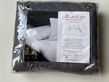 Nwt Bertelli 1947 - Queen Sheet Set - 100% Cotton Percale Charcoal Gray