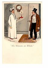 "Arthur Moreland ""The Woman in White"" Signed Comic Postcard - 1898"