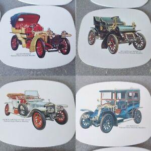 Classic Cars 4x Placemats National Motor Museum, Beaulieu vintage cars