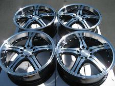 18 5x114.3 5x100 Polished Lip Wheels Fits Sc300 Taurus Matrix Celica RSX Rims