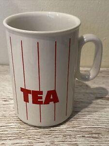 Hornsea Mug Red Strip Vintage Retro