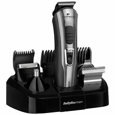 Babyliss Carbon Titanium 10-in-1 Men's Face & Body Hair Shaver Multi-Groomer Kit