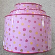 'Pink Polka Dot' Standard/Pendant Lamp Shades - Set of 3