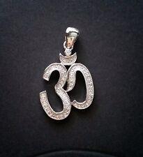 Ohm plata,Silver Sanscrit om aum sound universe,chakra ,Reiki,YogA ,Mantra