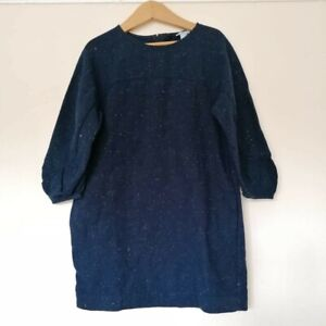 COS Navy Blue Flecked Smock Shirt Tunic Shift Woven Dress 4-5 yrs