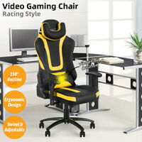 Gaming Racing Chair Ergonomic Office Computer Desk Seat Recliner Chair Swivel US