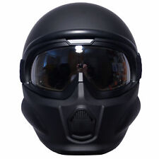 Viper Rs07 Trooper System Motorcycle Helmet Open or Full Face - Matt Black XL