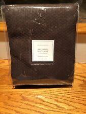 Restoration Hardware DIAMOND MATELASSÉ SHOWER CURTAIN Dark Brown Chocolate