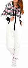 SkylineWears Womens Non Footed Jumpsuit Pajama Zipper Hoodie Playsuit Tracksuit