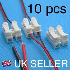 10 x Electrical Cable Twin Connectors Quick Audio / Auto Self Locking Fast .