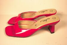 Fioni Red Open Toe Slip On Sandals Womens Shoe Size 7