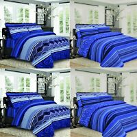Duvet Cover Bedding Set & Pillowcase Single Double King Quilt Cover Bed Throw UK