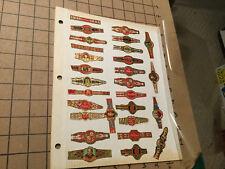 Vintage Original - 28 CIGAR BANDS -- a few dupes, v cool