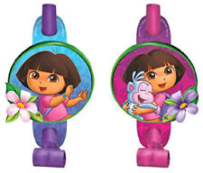 Dora The Explorer Noiseless Blowouts 8 Pack Kids Birthday Party Supplies Deco