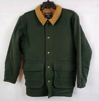 VTG John Rich Bros Woolrich Men's Medium Green Wool Mountain Barn Coat Jacket