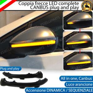 COPPIA FRECCE SPECCHIETTI LED DINAMICHE PROGRESSIVE SEQUENZIALI VW GOLF 7