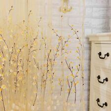 Floral Curtains Window Panels Woven Screen Treatment Home Decoration Curtain New