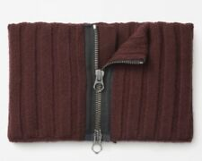 Rag & Bone,Tessa Knit100% Merino Wool Zipper Snood Neck Warmer Scarf - No Tag