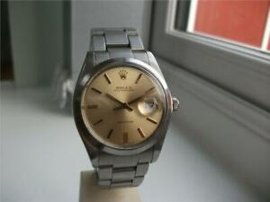 Rolex Oysterdate Precision 6694 Champagne Dial Manual New Crown + Pendent Tube