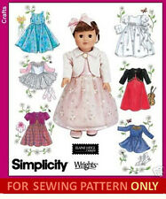 SEWING PATTERN! MAKE DOLL CLOTHES! FITS AMERICAN GIRL MOLLY~SAMANTHA~MCKENNA!