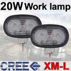 2pcs 20W Super Bright Cree Led Work Light Car 4WD Off Road Driving Lamp 12V 24V