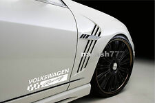 2 - VOLKSWAGEN RACING Sport Vinyl Decal sticker emblem logo WHITE