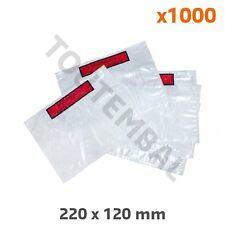 Pochette porte-document d'expédition adhésive 220 x 120 mm (par 1000)