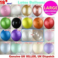 "18"" INCHES 45CM LARGE GIANT LATEX BALLOON BIG WEDDING PARTY DECORATION BIRTHDAY"