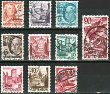 WURTTEMBERG GERMANY FRENCH ZONE Mi. #28-37 used stamp set! CV $288.00