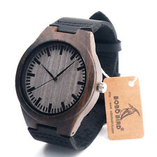 Ebony wooden watch wood dial quartz bobo bird brand watches Christmas Gift