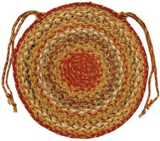 """Mustard Seed Braided Chair Pads - Round - 15"""" (Set of 4)"""