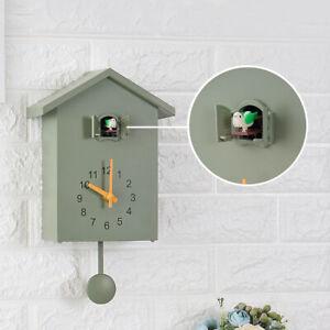 Clock Wall Clock- Movement Cuckoo Chalet-Style , Minimalist Modern Design
